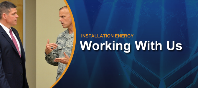 Engage with the Air Force Installation Energy